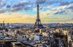 Vacation Trips, Paris Skyline, Travel, Viajes, Trips, Traveling, Tourism, Vacations