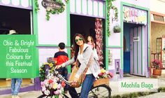 One of our customers looking amazing in her brandnative Mochila bag and a beautifully colourful colombian backdrop