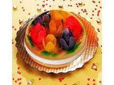 gelatina de tulipanes