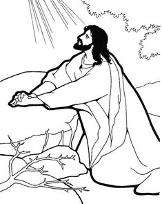 Jesus Praying In The Garden Coloring Pages Garden Coloring Pages, Jesus Coloring Pages, Santa Coloring Pages, Coloring For Kids, Adult Coloring Pages, Coloring Books, Sunday School Coloring Pages, Bible Story Crafts, Christian Crafts