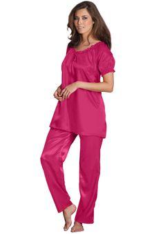 2-piece satin pjs by Amoureuse® | Plus Size Pajamas - Sets | Woman ...