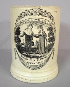 2171: LIVERPOOL MUG. Token of affection in the form of : Lot 2171, c 1810?