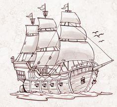 Jorge Santillan Dibujante: Barco Pirata - Pirate Ship