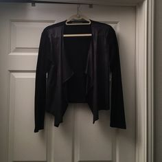 Velvet cardigan Cardigan with faux leather. New. Never worn. Velvet Sweaters Cardigans