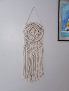 Items similar to Macrame Wall Hanging on Etsy Bohemian Crafts, Boho Diy, Macrame Rings, Macrame Knots, Macrame Owl, Micro Macrame, Macrame Wall Hanging Diy, Mandala, Macrame Design
