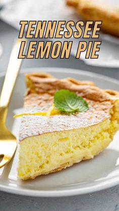 Lemon Desserts, Lemon Recipes, Pie Recipes, Easy Desserts, Sweet Recipes, Delicious Desserts, Dessert Recipes, Yummy Food, Cupcake Cakes