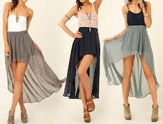 falda de gasa con cola
