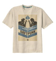 Retro Daft Punk Electronic Rock  Band TShirt Tee by Videofe, $14.00