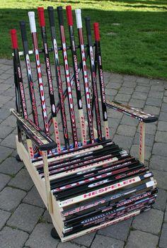 cool use of hockey sticks