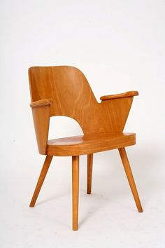 bent plywood chair direct from mid-1960s Czechoslovakia.