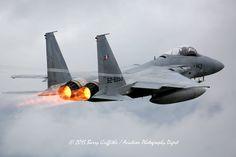 LAUNCH: RED FLAG-ALASKA Mitsubishu F-15J Eagle s/n 52-8953 203rd Tactical Fighter Squadron (JASDF) Chitose AB, Japan (Heavy rain)