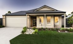 Stunning elevation with wrap around verandah, stylish gable and rendered facade