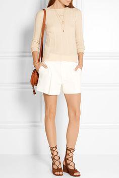 Chloé | Iconic pleated crepe shorts | NET-A-PORTER.COM