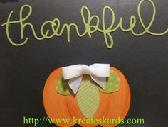 Thanksgiving Punch Art Pumpkin Using Stampin' Up! Punches