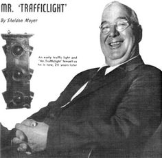 William L. Potts, a Detroit, Michigan police officer, invented the traffic light. He used red, amber and green railroad lights and about thirty-seven dollars worth of wire and electrical controls to make the world's first 4-way three color traffic light. It was installed in 1920 on the corner of Woodward and Michigan Avenues in Detroit.