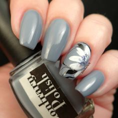 Grey with a hand painted flower by @kimiko7878