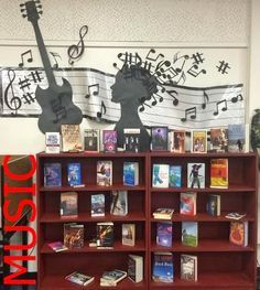 Music themed fiction book display - could include NF as well