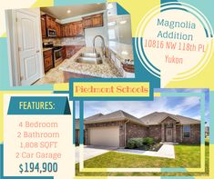 See this attractive home in the Piedmont School District! Located just off Morgan Rd with easy access to the Turnpike. You are going to love the location and the home is so inviting with an open concept living area, 4 bedrooms and 2 bathrooms. The home is situated on a large corner lot with a privacy fence and back patio for entertaining outdoors!