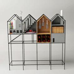 Baan Dinner Set Cupboard by Paitoon Keatkeereerut and Chawin Hanjing Café Design, Deco Design, Home Design, Interior Design, Design Furniture, Home Furniture, Restaurant Design, Furniture Inspiration, Toys