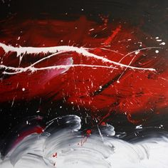 abstract painting red and black