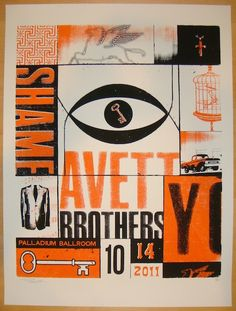 2011 Avett Brothers - Dallas I Concert Poster by Andrew Vastagh