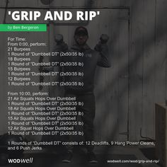 Ripped Workout, Wod Workout, Insanity Workout, Dumbbell Workout, Crossfit Workouts At Home, Crossfit Games, Fitness Workouts, Burpees, Air Squats