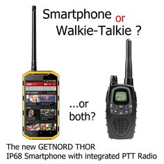 We developed an affordable, easy-to-use wireless solution that combines all the efficiency of a two-way radio with a mobile phone's broader wheelhouse of communication. Recently, the walkie talkie has been making a comeback. Credit for this revival can mainly be attributed to a walkie talkie's free and unlimited communication and simplicity of use. With Getnord Thor, you don't need to haul around two communication devices - the Thor is two-in-one. Make a normal mobile-to-mobile call, or… Thor, Two Way Radio, Walkie Talkie, Phones, Communication, Germany, Simple, Telephone