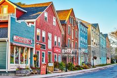 Colourful shopping streets in the town of Charlottetown, Prince Edward Island, Canada East Coast Travel, East Coast Road Trip, East Coast Canada, Pei Canada, Canada Travel, Canada Trip, Canada Cruise, Island Tour, Prince Edward Island