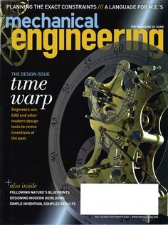 This is a magazine about mechanical engineering which is a career I am trying to pursue.