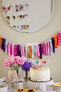 that bunting would be cute to make with scraps of clothes from baby's first year and then used at each birthday following.  hmmm...