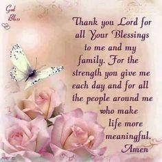 A Prayer of Thanks Prayer Verses, God Prayer, Power Of Prayer, Daily Prayer, Bible Verses, Prayer Quotes, Spiritual Quotes, Images Bible, Prayer Of Thanks