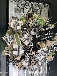 Summer Door Wreaths, Christmas Mesh Wreaths, Wreaths For Front Door, Holiday Wreaths, Winter Wreaths, Spring Wreaths, Burlap Flower Wreaths, Greenery Wreath, Deco Mesh Wreaths