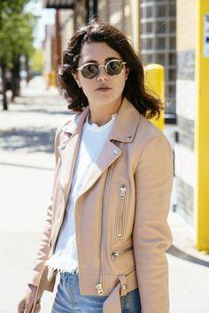 Acne leather jacket (via chicityfashion.com)