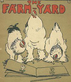 Cecil Aldin 1915 Original Antique Chickens Print Art Plate Rare