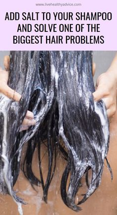 Add Salt to Your Shampoo and Solve One of the Biggest Hair Problems Herbal Remedies, Natural Teething Remedies, Natural Remedies, Big Hair, Your Hair, Baking Soda Shampoo, Hair Again