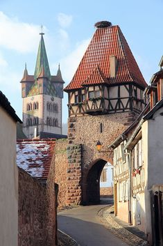 Deep in France's Alsace region (the best place for a good wine), you'll find a pretty town that goes by the name of Eguisheim… Beautiful Places To Visit, Wonderful Places, Beautiful World, Amazing Places, Places Around The World, Travel Around The World, Around The Worlds, Belle France, Spain And Portugal