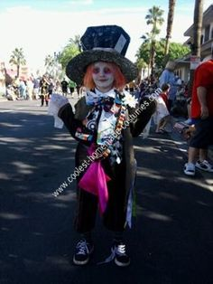 Homemade Mad Hatter Boy's Halloween Costume Idea: My (now) 6 year old nephew has a real talent for picking complicated costumes.  But, he usually picks it right away and doesn't change his mind.  He lives