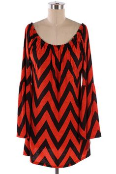 New Red Black Chevron Zig Zag Dress Small Medium Large XL | eBay