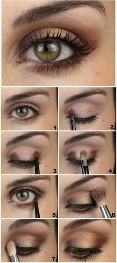 Makeup Artist ^^ | https://pinterest.com/makeupartist4ever/ maquillage marron doré pour souligner bien les yeu