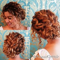 short curly hair half up - Google Search