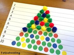 Christmas Tree Learning Activities for Toddlers & PreK | Totschooling - Toddler, Preschool, Kindergarten Educational Printables