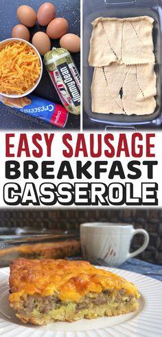 Cresent Roll Breakfast Casserole, Breakfast Bake, Breakfast Dishes, Breakfast Ideas, Baked Breakfast Recipes, Brunch Recipes, Breakfast Casserole Sausage, Crescent Rolls, Crescent Roll Recipes