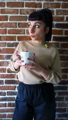 Maglione maniche a 3/4 raglanne in di MisStufiSaraForlini su Etsy
