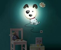 BoomDealer.com    DIY Kid's Bedroom Wallpaper Stickers Wall Lamp Cute 3D Removable Home Decor Night Light