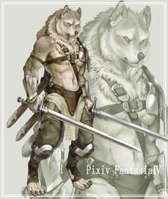 ShapeShifter Seduction: Drev, Wolf Peak Super Soldier and His Wolf Warrior. Fantasy Warrior, Fantasy Races, Fantasy Rpg, Character Inspiration, Character Art, Wolf Warriors, Arte Ninja, Werewolf Art, Super Soldier