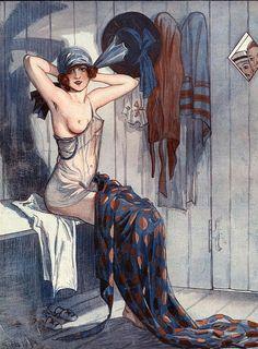 Illustration by George Pavis For La Vie Parisienne 1919