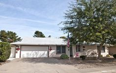 Sun City Arizona Adult Community Homes For Sale  $279,000, 2 Beds, 2 Baths, 2,387 Sqr Feet  Your resort retirement escape awaits!  This expanded model offers views galore (including peeks of the mountains) with its additional Arizona Room, two separate covered lanai patios and expansive yard on the golf course.  If you are looking for comfort and peaceful spaces to relax (shade or sun), imA complete and FREE UP-TO-DATE list of Phoenix homes for sale in Adult Communities!  http://mi..
