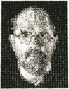 Chuck Close, Self-Portrait, 1999 100 x 80 cm, Reliefdruck auf Papier Piet Mondrian, Chuck Close Art, Art Folder, High Art, Summer Art, American Art, Online Art, Art History, Art Museum