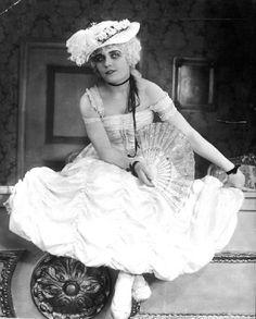 Silent film star Pola Negri in Madame Du Barry 1919