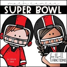 Football Fractions Math Center: Super Bowl by Catherine Solanik | TpT - This Football Fractions Super Bowl is a FUN and ENGAGING activity that your students will LOVE! This resource works great as a math workstation, group or partner activity, for guided math, as review and practice, and a teacher resource tool! Common Core and TEKS aligned! Perfect for grades 3-5 and beyond!